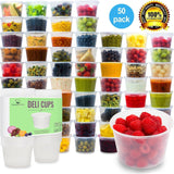 Plastic Food Storage Containers with Lids - Restaurant Deli Cups / Foodsavers... - Chickadee Solutions - 1