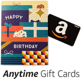 Amazon Happy Birthday Premium Greeting Card with Anytime Gift Card (Pack of 3) - Chickadee Solutions - 1