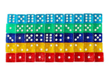 ABO Gear 50 6-Sided Dice - 10 x 5 Different Colors - 16MM - for Board Games A... - Chickadee Solutions - 1