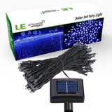 LE Solar Powered LED Fairy String Lights 100 LEDs 55ft/17m Waterproof Blue Ch... - Chickadee Solutions - 1