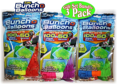 Zuru Bunch O Balloons Instant 100 Self-Sealing Water Balloons Complete Gift S... - Chickadee Solutions - 1