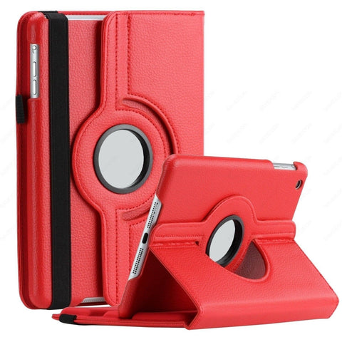 SAVEICON iPad Air / iPad 5 Case - Red PU Leather Case 360 Degree Swivel Rotat... - Chickadee Solutions - 1