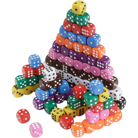 Family Glue 100 Dice Party Pack w/ 10 Colors Play Tenzi Liars Dice Yahtzee Fa... - Chickadee Solutions - 1