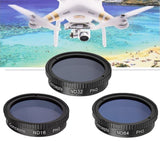 3 Piece Filter Kit (ND16-ND32-ND64) for DJI Phantom 3 4KDJI Phantom 3 Standar... - Chickadee Solutions - 1