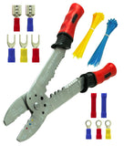BastexWire Stripper/Crimping Pliers & Solderless Clamp-On Terminal Connectors... - Chickadee Solutions - 1