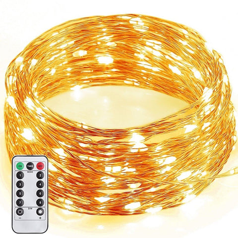 GDEALER 8 Modes String Lights 33ft 100LED Copper Wire Fairy Starry String Lig... - Chickadee Solutions - 1
