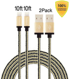Tecland 2pack 10ft Nylon Braided lightning cords to USB Cable for iPhone 6/ 6... - Chickadee Solutions - 1