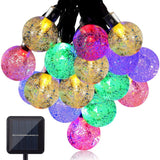 GDEALER Waterproof 30 LED Crystal Ball Solar String Lights 20 Feet (6 Meters)... - Chickadee Solutions - 1