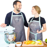 Chef Apron with two big Pockets. Neutral colors for Men and Women. Adjustable... - Chickadee Solutions - 1