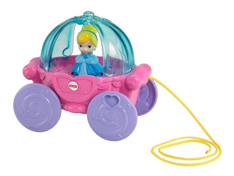Disney Baby Cinderella Musical Carriage Pull Toy - Chickadee Solutions - 1