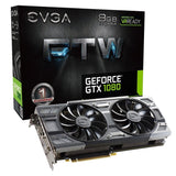 EVGA GeForce GTX 1080 FTW GAMING ACX 3.0 8GB GDDR5X RGB LED 10CM FAN 10 Power... - Chickadee Solutions - 1