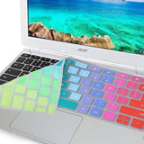 "GMYLE Rainbow Silicon Keyboard Cover for Acer 11.6"" Chromebook CB3-111-C670 C... - Chickadee Solutions - 1"