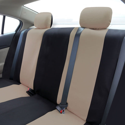 fh fb050114 flat cloth car seat covers beige color beige black chickadee solutions. Black Bedroom Furniture Sets. Home Design Ideas