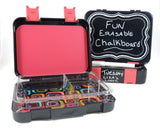 Quick Gourmet Real Chalkboard Lunch Box with 3 Compartments | Bento Box for K... - Chickadee Solutions - 1