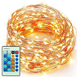 xtf2015 Outdoor LED String Lights Flexible Dimmable Copper Wire Lights 99ft/3... - Chickadee Solutions - 1