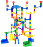 Marble Genius Marble Run Super Set - 85 Translucent Marbulous Pieces + 15 Gla... - Chickadee Solutions - 1