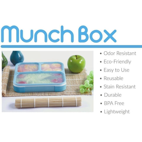munchbox bento lunch box sleek edition orange ultra slim tray style leakp chickadee. Black Bedroom Furniture Sets. Home Design Ideas