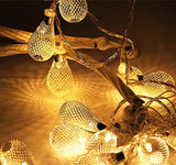 Goodia Battery Operated 13.7ft 40 LED Curtain Light / Golden Mesh Teardrop St... - Chickadee Solutions - 1