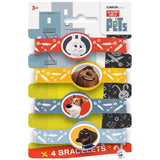 The Secret Life of Pets Silicone Wristband Party Favors 4ct - Chickadee Solutions