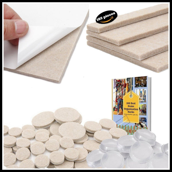Premium Quality The Only Pack Of 182 Bundle Felt Furniture Feet Pads Free 50