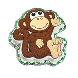 "Wilton Monkey Shaped Pan Monkey-12.75""X11.25""X2"" 1-Pack - Chickadee Solutions - 1"