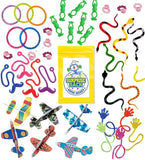 100 Pc Terrific Toy Assortment (Includes: Glider Airplanes Sticky Hands & Mus... - Chickadee Solutions