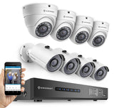 Amcrest HD 720P 8CH Video Security System - Eight 1280TVL 1.0-Megapixel Weath... - Chickadee Solutions - 1