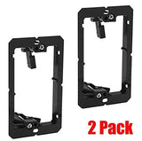 iMBAPrice Single Gang (1-Gang) Low Voltage Mounting Bracket - Black (Pack of 2) - Chickadee Solutions - 1