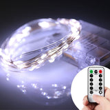 Homestarry 66 LED Mini Battery String Lights 16 Feet Cool White 16 feet 66 LEDs - Chickadee Solutions - 1