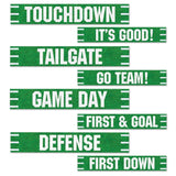 Beistle Football Street Signs Cutouts 4 by 24-Inch Green/White - Chickadee Solutions