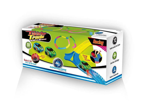 Mindscope Twister Tracks 255 BUMP & GO RACE SET Neon Glow in the Dark Series ... - Chickadee Solutions - 1