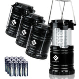 Etekcity 4 Pack Portable Outdoor LED Camping Lantern with 12 AA Batteries (Bl... - Chickadee Solutions - 1
