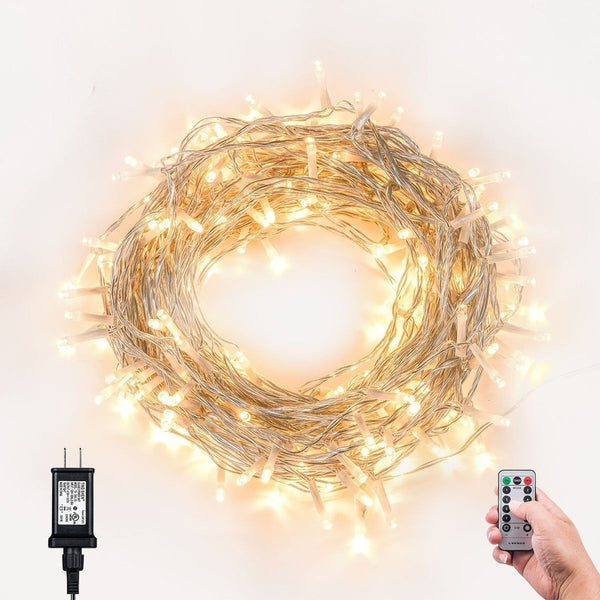 Plug In String Lights Indoor : Loende 8Mode Plug-In Indoor Dimmable Fairy String Lights With Remote & Timer ... Chickadee ...