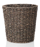 B&C Homegoods Woven Espresso Seagrass Waste Bin Waste Paper Basket for Bedroo... - Chickadee Solutions - 1
