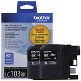 Brother LC1032PKS Printer High Yield Cartridge Ink Black (2-Pack) 1 - Chickadee Solutions
