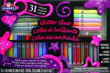 Elmer's 3D Washable Glitter Pens Flat Box 31 Rainbow and Glitter Colors (E198) - Chickadee Solutions - 1