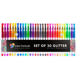 Glitter Gel Pens by Color Technik Set of 30 Glitter Pens Best Assorted Colors... - Chickadee Solutions - 1