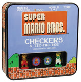 Super Mario Bros Checkers & Tic-Tac-Toe Collector's Edition Board Game - Chickadee Solutions - 1