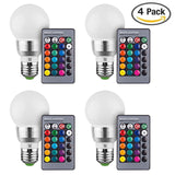 Massimo Retro LED Color Changing Light Bulb with Remote Control (4 Pack) 16 D... - Chickadee Solutions - 1
