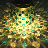 Blue Green Diamond Solar Glass Jar Decoration Light Sogrand Small Glass Jars ... - Chickadee Solutions - 1