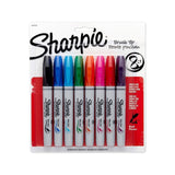 Sharpie Brush Tip Permanent Markers 8 Colored Markers (1810703) Assorted Colors - Chickadee Solutions - 1