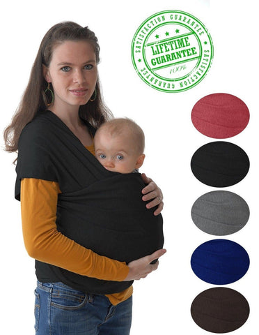#1 Style Child Carrier. This 4-in-1 Black Baby Wrap and Infant Sling Keeps Yo... - Chickadee Solutions - 1