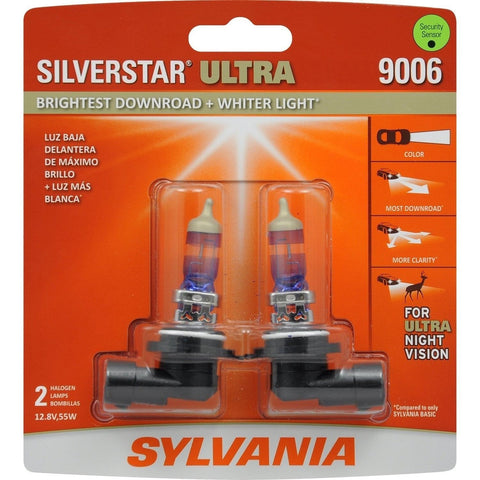 SYLVANIA 9006 SilverStar Ultra High Performance Halogen Headlight Bulb (Conta... - Chickadee Solutions - 1