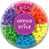 Decorative Multi-Colored Push Pins for Home & Office Six Colors for Different... - Chickadee Solutions - 1