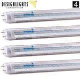 4-Pack of Hyperikon T8 LED Light Tube 4ft 18W (40W equivalent) 5000K (Crystal... - Chickadee Solutions - 1
