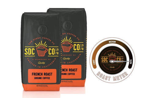 San Diego Coffee French Roast Ground Coffee (1 LB (Pack of 2)) 1 LB (Pack of 2) - Chickadee Solutions