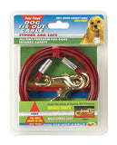 Four Paws Red Medium Weight 20 Foot Dog Tie Out Cable - Chickadee Solutions - 1
