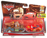 Disney/Pixar Cars Mater with No Tires and Lightning McQueen with No Tires Ve... - Chickadee Solutions - 1