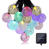 Solar String Lights EveShine 19.7 ft 30 LED Outdoor Solar Powered Crystal Bal... - Chickadee Solutions - 1
