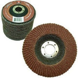 "10 Pack 4-1/2"" Auto Body Sanding Flap Discs 80 Grit - Chickadee Solutions"